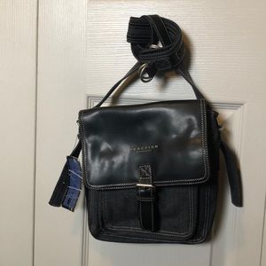 Blue Jean Hobo with Leather Flap